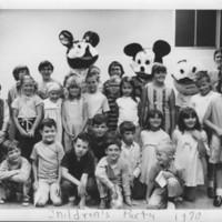 Party: A children's party. 1970