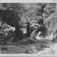 Hurricane: 9/21/1938: Washed Out Highway Culvert.