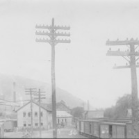 Railway Yard and Freight House. Bellows Falls, VT.