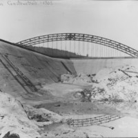 Dam Construction. 1909.