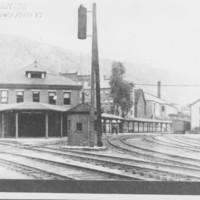 Railway Depot and Freight House. Bellows Falls, VT.