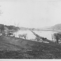 Connecticut River. View North from foot of Webb Terrace.