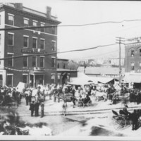 Near Hotel Windham. Crowd Gathering. 1910.&lt;br /&gt;<br />