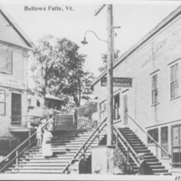 Bellows Falls: School Street Stairs.