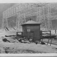 Flood: November, 1927. At Power Company Yard.