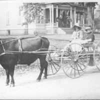 Parade Entry: Steer Drawn Wagon. 1910.&lt;br /&gt;<br />