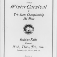 Winter Sports: Bellows Falls Outing Club Program Cover.