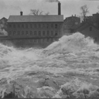 Flood: November, 1927: At Mills Below Tucker Bridge.
