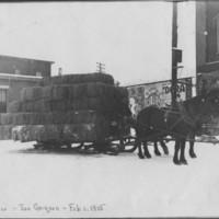 Crop: Winter Hay. (Driver is Joe Grignon). 2/1/1915.