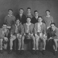 Basketball Team. Southern Vermont Champs. 1932-1933.