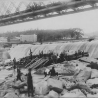 Dam and Canal: Sluicing Logs. 1909.
