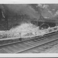 Flood: March: 1936: At Railroad & Vilas Bridges.