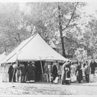 Poultry Display Tent. 1912.<br /><br />