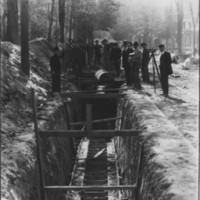 Laying Underground Pipe. Bellows Falls, VT. 1880s