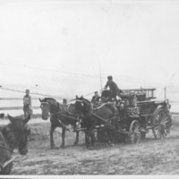 Fire Wagon in Parade. 1912.