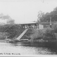 Club House: Bellows Falls Boat Club. First Building