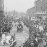 Parade in Square, 1910.<br /><br />
