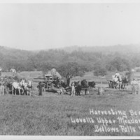"Lovell Farm, Etc.: Harvesting Hay with ""Abenaque"" Power Unit."
