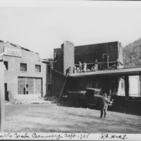 Hurricane: 9/21/1938: Creamery Roof Damage.
