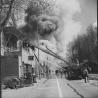 Fire: Rockingham Street. Bellows Falls, VT. 4/17/77.
