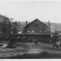Railway Depot. Bellows Falls, VT. Late 1800s.