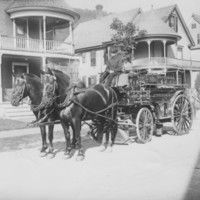 Chemical Truck and horses. B.F.F.D. 1909