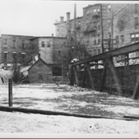 Flood: November, 1927. Canal Railroad Bridge.