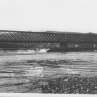 Bridge: Steel Truss Rail;way Over Dam.