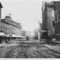 Bellows Falls: Rockingham Street into Square. 1880s