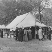 Poultry Display Tent. 1911.<br /><br />