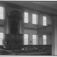 Rockingham Meeting House - Pews and Pulpit.