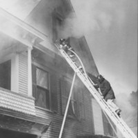 Fire: Marie Johnson House. 9/29/1958.