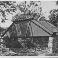 Bridge: Basin Farm. Queenspost Truss Bridge.