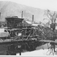 Concrete Mixing Plant on Canal.