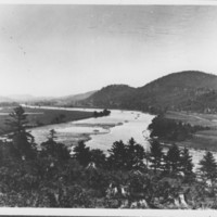 Connecticut River. View North from Webb Terrace.