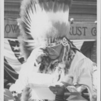Indian Chief Reads Deed To Town.