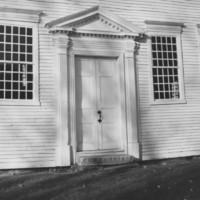Rockingham Meeting House - Front Door Detail.