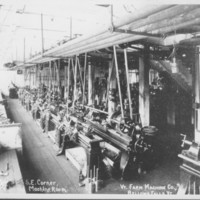Vermont Farm Machine Company. Artist's Sketch of Plant: Lathe Department.