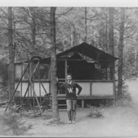 Barber Park: A Cabin.