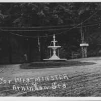 Bellows Falls: Westminster Street. Fountain. Summer.