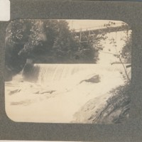 Saxtons River Dam and Bridge. Westminster St., Bellows Falls, VT.