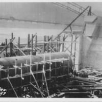 Roller Gate Being Installed. 1927-1928