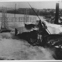Flood: November, 1927. Mills & Power Company Yard.