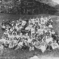 Church Group: Universalist Picnic. Barber Park. 6/29/1911
