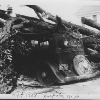 Hurricane: 9/21/1938: Crushed Automobile. Walpole, NH.