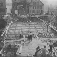 Bridge:Construction of Canal Street Bridge.